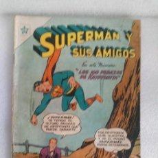 Tebeos: SUPERMAN Y SUS AMIGOS Nº 3, 1956,EDICIONES RECREATIVAS NOVARO,LOS 100 PEDAZOS DE KRYPTONITA. Lote 136553570