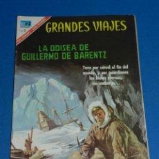 Tebeos: (M21) GRANDES VIAJES NUM 48 LA ODISEA DE GUILLERMO DE BARENTZ , EDT NOVARO 1967 , SEÑALES DE USO . Lote 136553866
