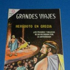Tebeos: (M21) GRANDES VIAJES NUM 34 HERODOTO EN GRECIA , EDT NOVARO 1965 , SEÑALES DE USO . Lote 136553954