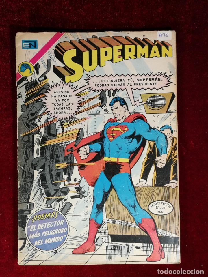 SUPERMAN NOVARO MEXICO 896 MUY DIFICIL 1973 (Tebeos y Comics - Novaro - Superman)
