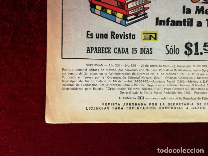 Tebeos: SUPERMAN NOVARO MEXICO 896 MUY DIFICIL 1973 - Foto 3 - 137274738