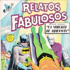 Tebeos: RELATOS FABULOSOS . EDITORIAL NOVARO. NÚMERO 107. AÑO 1968. LA MUERTE DE AQUAMÁN. . Lote 137357250