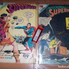 Tebeos: SUPERMAN N.657 Y 807 LOTE NOVARO TYPO DC 1969 OFERTA. Lote 137689146