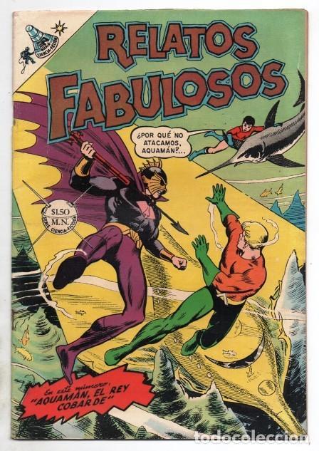 RELATOS FABULOSOS # 104 NOVARO 1968 AQUAMAN & AQUALAD 1ER APARICION DEL MAESTRO DEL OCEANO EXCELENTE (Tebeos y Comics - Novaro - Sci-Fi)