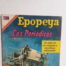 Tebeos: EPOPEYA N° 143 - LOS PERIÓDICOS - ORIGINAL EDITORIAL NOVARO. Lote 138643066