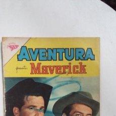 Tebeos: AVENTURA N° 207 - MAVERICK - ORIGINAL EDITORIAL NOVARO. Lote 138849806