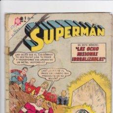 Tebeos: SUPERMAN NOVARO, NÚMERO 501. AÑO 1965. LEGIÓN DE SUPERHÉROES. LAS OCHO MISIONES IRREALIZABLES.. Lote 139020454