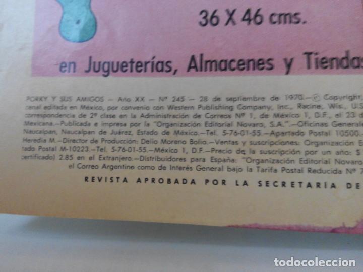 Tebeos: LOTE DE 2 EJEMPLARES DE EDITORIAL NOVARO. PORKY Y SUS AMIGOS AÑO 70 - Foto 5 - 139220690