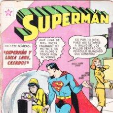 Tebeos: SUPERMAN NOVARO, NÚMERO 373, SUPERMAN Y LUISA LANE CASADOS.. Lote 141189318