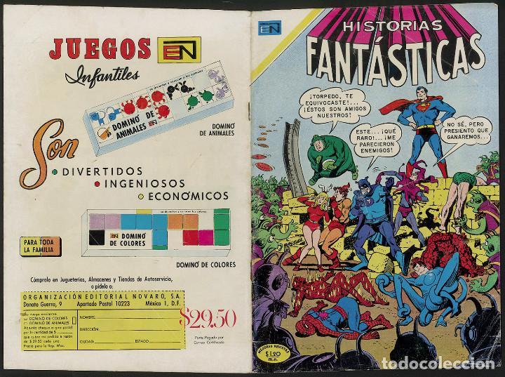 1969 MARVEL & DC CROSSOVER - HISTORIAS FANTASTICAS 237 - NOVARO (Tebeos y Comics - Novaro - Superman)