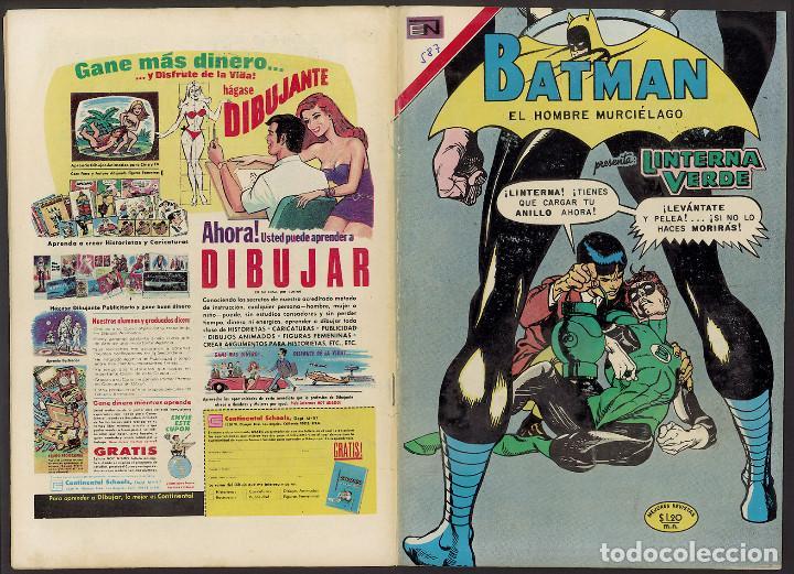 BATMAN 587 - GREEN LANTERN - KANE & ANDERSON - NOVARO 1971 (Tebeos y Comics - Novaro - Batman)