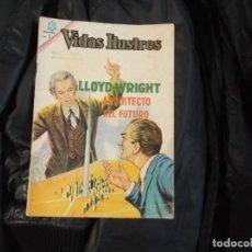 Tebeos: NOVARO VIDAS ILUSTRES.Nº 121-LLOYD WRIGHT. Lote 143782770