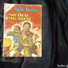 Tebeos: NOVARO VIDAS ILUSTRES.Nº 77 NICOLO PAGANINI. Lote 143784122