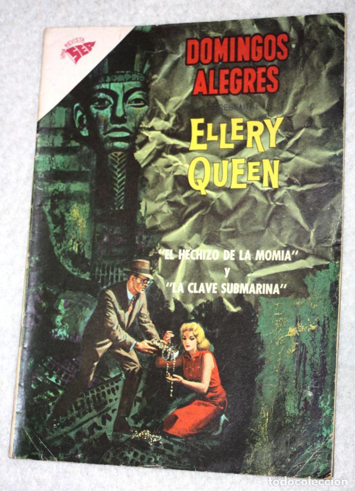 DOMINGOS ALEGRES -ELLERY QUEEN - NÚMERO 428 (1962).MUY DIFICIL (Tebeos y Comics - Novaro - Domingos Alegres)