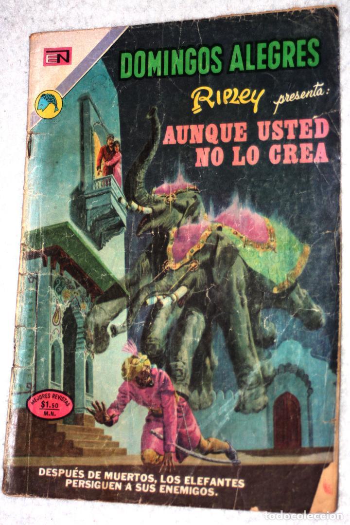 DOMINGOS ALEGRES -RIPLEY PRESENTA AUNQUE USTED NO LO CREA - NÚMERO 970 (1972). DIFICIL (Tebeos y Comics - Novaro - Domingos Alegres)