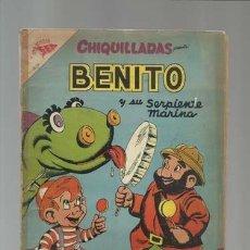 Tebeos: CHIQUILLADAS 59: BENITO, 1957, NOVARO. COLECCIÓN A.T.. Lote 144758198