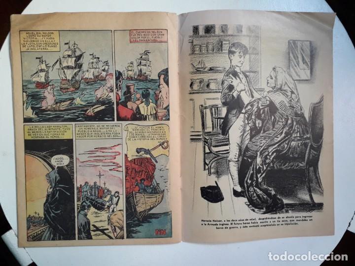 Tebeos: Epopeya n° 5 - Nelson, el héroe de Trafalgar - original editorial Novaro - Foto 3 - 145201922