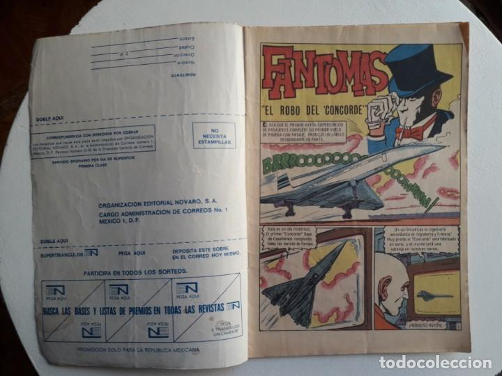 Tebeos: Fantomas n° 82 - El robo del Concorde - original editorial Novaro - Foto 2 - 145843542