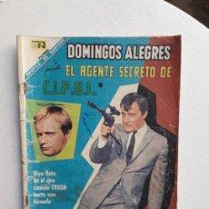 Tebeos: DOMINGOS ALEGRES N° 729 - EL AGENTE SECRETO DE C,I.P.O.L. - ORIGINAL EDITORIAL NOVARO. Lote 145853138