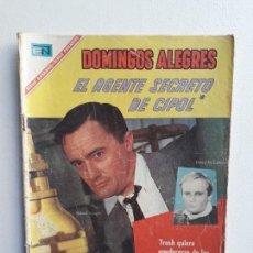 Tebeos: DOMINGOS ALEGRES N° 680 - EL AGENTE SECRETO DE C.I.P.O.L. - ORIGINAL EDITORIAL NOVARO. Lote 145853498