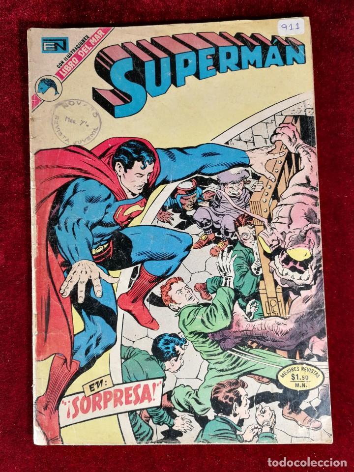 SUPERMAN NOVARO MEXICO 911 MUY DIFICIL 1973 (Tebeos y Comics - Novaro - Superman)