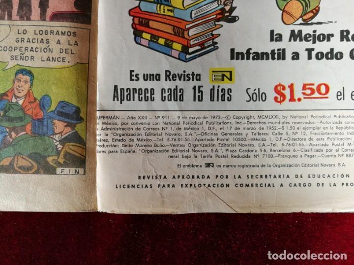 Tebeos: SUPERMAN NOVARO MEXICO 911 MUY DIFICIL 1973 - Foto 3 - 146347602