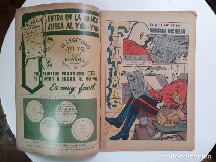 Tebeos: Fantomas n° 60 - original editorial Novaro - Foto 2 - 146725482
