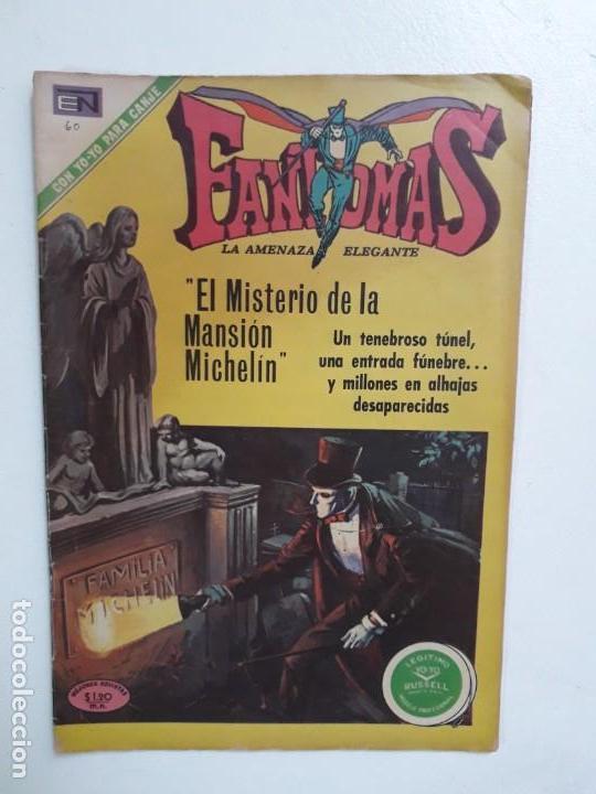 FANTOMAS N° 60 - ORIGINAL EDITORIAL NOVARO (Tebeos y Comics - Novaro - Otros)