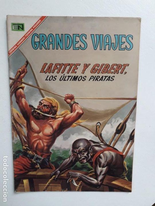GRANDES VIAJES N° 53 (LOS ÚLTIMOS PIRATAS) - ORIGINAL EDITORIAL NOVARO (Tebeos y Comics - Novaro - Grandes Viajes)