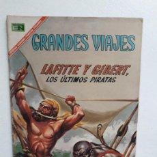 Tebeos: GRANDES VIAJES N° 53 (LOS ÚLTIMOS PIRATAS) - ORIGINAL EDITORIAL NOVARO. Lote 146737958