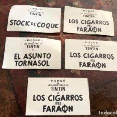 Tebeos: LOTE 5 ADHESIVOS TEBEOS TINTIN DE HERGÉ.. Lote 146738102