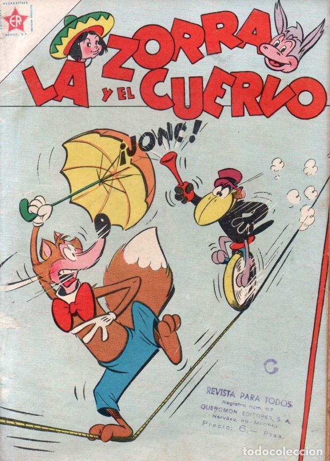 LA ZORRA Y EL CUERVO Nº 62 - 1957 (Tebeos y Comics - Novaro - Otros)