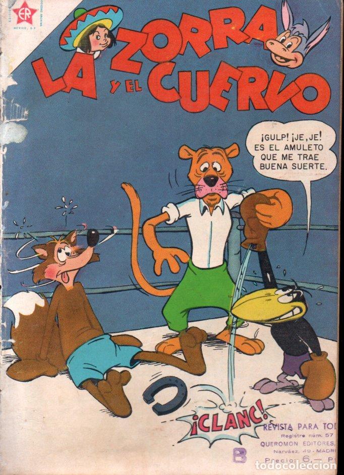 LA ZORRA Y EL CUERVO Nº 65 - 1957 (Tebeos y Comics - Novaro - Otros)