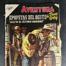 Tebeos: ORIGINAL NOVARO - AVENTURA 27 AÑO 1956 - EPOPEYAS DEL OESTE DE ZANE GREY HASTA EL ÚLTIMO HOMBRE. Lote 147168190