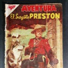 Tebeos: ORIGINAL NOVARO - AVENTURA 79 AÑO 1958 - EL SARGENTO PRESTON. Lote 147171030