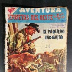 Tebeos: ORIGINAL NOVARO - AVENTURA 77 AÑO 1958 - EL VAQUERO INDÓMITO. Lote 147171314