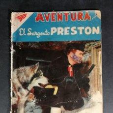 Tebeos: ORIGINAL NOVARO - AVENTURA 90 AÑO 1958 - EL SARGENTO PRESTON. Lote 147172318