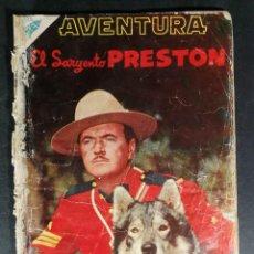 Livros de Banda Desenhada: ORIGINAL NOVARO - AVENTURA 72 AÑO 1957 - EL SARGENTO PRESTON. Lote 147172546