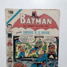 Tebeos: BATMAN N° 607 - CAMPEONES DE LA JUSTICIA - ORIGINAL EDITORIAL NOVARO. Lote 147426642