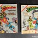 Tebeos: ORIGINAL NOVARO MEXICO - SUPERMAN SUPERCOMIC NÚMEROS 1 Y 2 AÑO 1967 PRIMEROS NÚMEROS, MUY RAROS. Lote 147449986