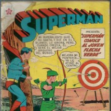 Tebeos: SUPERMAN Nº 237 - ERSA NOVARO 1960 - SUPERMAN CONOCE AL JOVEN FLECHA VERDE - BIEN CONSERVADO. Lote 147754534