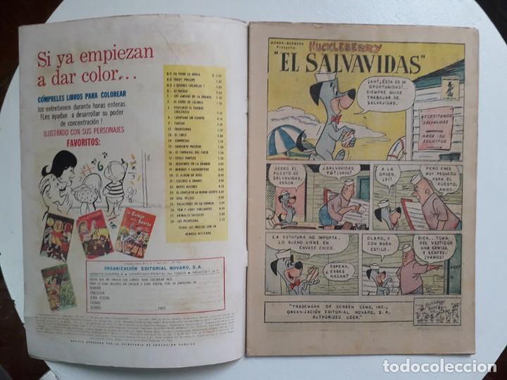 Tebeos: Chiquilladas en tv n° 184 - Hanna-Barbera (Huckleberry) - original editorial Novaro - Foto 2 - 148267950