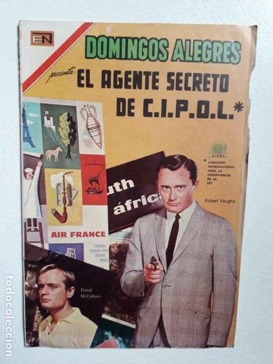 DOMINGOS ALEGRES N° 714 - EL AGENTE SECRETO DE C.I.P.O.L. - ORIGINAL EDITORIAL NOVARO (Tebeos y Comics - Novaro - Domingos Alegres)