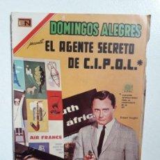 Tebeos: DOMINGOS ALEGRES N° 714 - EL AGENTE SECRETO DE C.I.P.O.L. - ORIGINAL EDITORIAL NOVARO. Lote 148610054