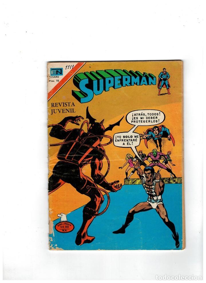 SUPERMÁN -SERIE ÁGUILA Nº 1111- NOVARO,1977. (Tebeos y Comics - Novaro - Superman)