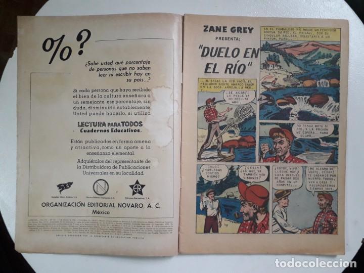 Tebeos: Aventura n°161 - Hazañas del oeste de Zane Grey - original editorial Novaro - Foto 2 - 151235350