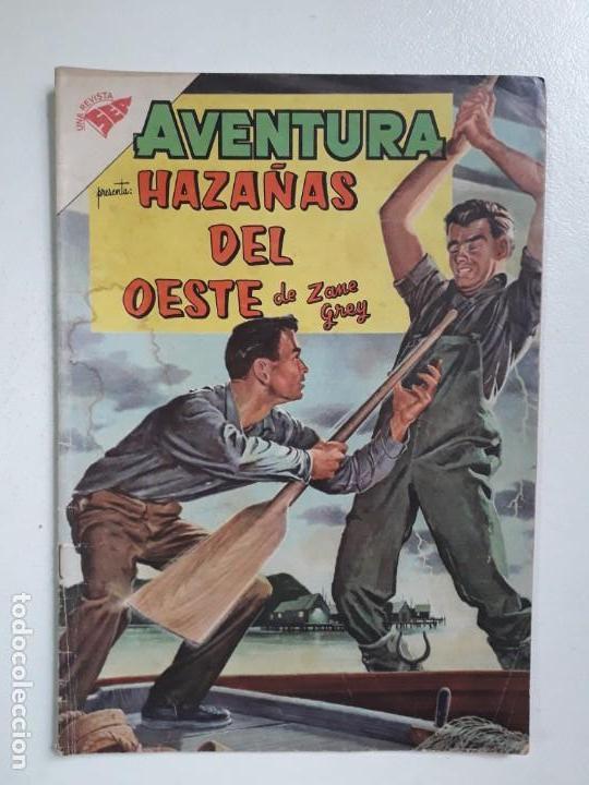 AVENTURA N°161 - HAZAÑAS DEL OESTE DE ZANE GREY - ORIGINAL EDITORIAL NOVARO (Tebeos y Comics - Novaro - Aventura)