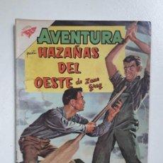 Tebeos: AVENTURA N°161 - HAZAÑAS DEL OESTE DE ZANE GREY - ORIGINAL EDITORIAL NOVARO. Lote 151235350