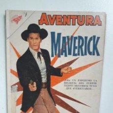 Tebeos: AVENTURA N°160 - MAVERICK - ORIGINAL EDITORIAL NOVARO. Lote 151235682