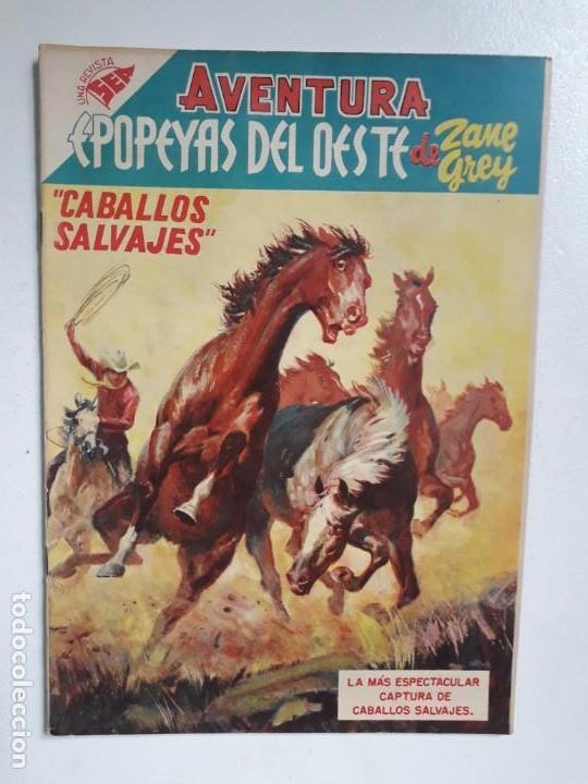 AVENTURA N° 41 - CABALLOS SALVAJES! - ORIGINAL EDITORIAL NOVARO (Tebeos y Comics - Novaro - Aventura)